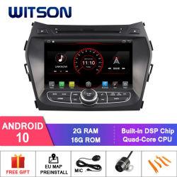 Hyundai IX45 Capactive 1024*600 스크린을%s Witson 쿼드 코어 인조 인간 10 차 DVD 플레이어