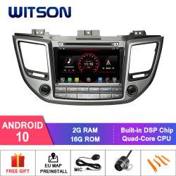 Auto-DVD-Spieler des Witson Vierradantriebwagen-Kern Android-10 für eingebaute OBD Funktion Hyundai-IX35 2016 (für nur linkes Handfahrer-Auto)
