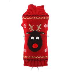 Huisdier Christmas Sweater Hond Cat Christmas Reindier Snowflakes Turtleneck Knit Sweater Winter Soft warm Stretch Pullover jumper Kerstkleding Esg12469