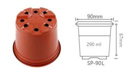 "3.50"" de diámetro superior de termoformado de plástico redonda Maceta Jardín la impresión de la Sembradora de Siembra de vivero Pot"