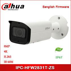 모터 구동식 렌즈 실외 방수 방탄 PoE Dahua 8MP 카메라 IPC-Hfw2831t-ZS