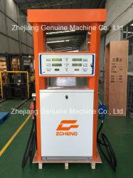 محطة بنزين Zcheng Orange Color Fuel pumpّع البنزين مضخة مزدوجة ميجا موزع الوقود من السلسلة