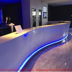LED de marbre blanc incurvé Coffee Bar comptoir café mobilier commercial
