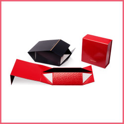 Logo personnalisé d'emballage carton plat perruque papier Vêtements Vêtements Chaussures de sac à main chocolat parfum cosmétiques pliable de vin un emballage cadeau case de fermeture de ruban magnétique
