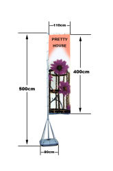 5 メートルの巨大な柱望遠鏡のアルミニウム旗の極を高級にしなさい