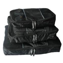 3-Delige Set Zwarte Pakkingbussen Pak Tassen - Klein, Medium, Grote Bagage
