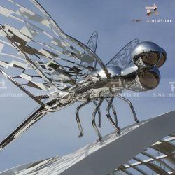 Polissage miroir et la Peinture Sculpture de métal en acier inoxydable pour la décoration de jardin