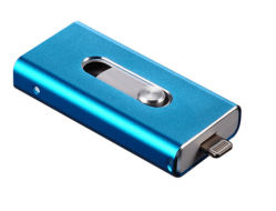 La función OTG Unidad USB para iPhone y Android doble USB