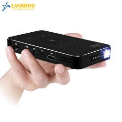 Micro Mobile Home OEM projecteur DLP Andoid 7.1 Appui/HDMI 1080p/WiFi/miroir de la carte de liaison/TF/USB avec commande tactile de la Chine usine