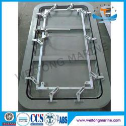Marine seule feuille aluminium porte étanche aux intempéries pour bateau