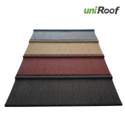 Les matériaux de construction de maison préfabriquée tuile couché en pierre colorée