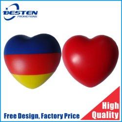 Дешевые поощрения пользовательские формы логотип торговой марки ПЕНА PU сердце подчеркнуть Reliever шаровой шарнир