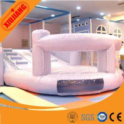 Banheira de vender crianças Piscina almofada insuflável Slide de devolução