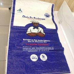 Sacchetto di plastica tessuto pp all'ingrosso del sacco di iuta 25kg 50kg
