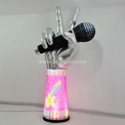 الديكور الخارجي بالجملة عمود مطاطي / عمود مطاطي عملاق LED مخصص مع مصباح LED
