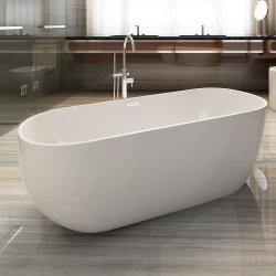 Vasca da bagno acrilica indipendente del mulinello di plastica ovale con lo scolo d'ottone di Cupc