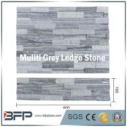 Branco/cinza/preto Legde em mármore e pedra de cultura em mármore e pedra mármore Pedra Empilhada