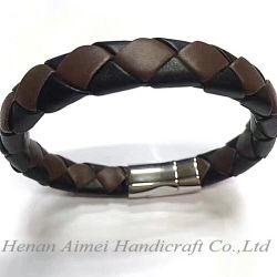 Umsponnene lederne Armbänder für Männer, lederne Armband-Form-magnetischer Haken