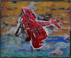 La decoración de metal Pintura al Óleo de arte de la pared de hierro de avión Spin dimensión 3D