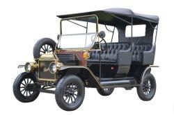 De elektrische Antieke Retro Uitstekende Klassieke Toerist die van de Bel Auto's Met fouten bezienswaardigheden bezoeken
