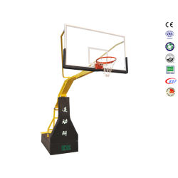 Professioneller faltbarer manueller hydraulischer justierbarer Höhen-Basketball-Standplatz mit Rädern