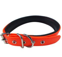 PVC Dog Collar with Soft Padding Orange 60cm Long