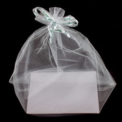 Fita de emenda H Branco personalizado Cordão Soft Organza saco cosméticos