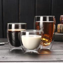 Vorzügliches doppel-wandiges Cup-Glasflasche für Ihr wählen