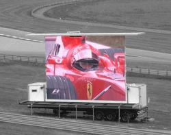 De hoge Openlucht Video LEIDENE van de Helderheid P16 Vertoning van het Scherm op Aanhangwagen