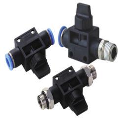 Les vannes à main pneumatique (HVFF HVSS etc) Deux ou trois voies du connecteur de tube pneumatique