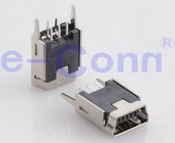 Mini USB B женского типа DIP Verticle Recceptacle разъем