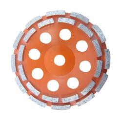 Machines를 위한 다이아몬드 Double Row Disc Concrete Grinding Sintered Diamond Floor Grinding Cup Wheels Diamond Polishing Cup Wheels