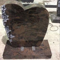 Hand geschnitzte Rosen-Aurora-Granit-Grabsteine