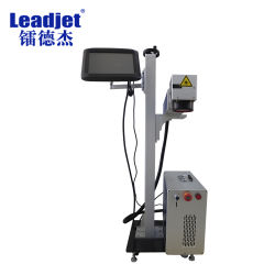 Высокая скорость промышленного волокна лазерный станок для лазерной маркировки кодер