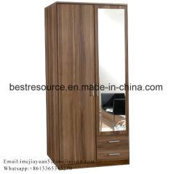 Personnalisé porte en bois moderne de 2 vêtements armoire en bois MDF