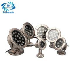 فولاذ لا يصدأ 304 نافورة مياه مصباح حمام سباحة IP68 24 فولت LED المصباح
