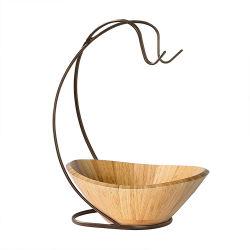 新しいデザイン円形のアカシアの自然な絵画が付いている木製のサラダボール