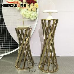 현대 디자인 로즈 금 금속 표준 크기 화초대