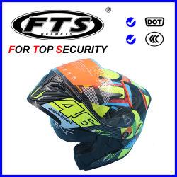 Veiligheidsbescherming voor motorfietsaccessoires modulaire helm, halve kanteling voor het gezicht Naar boven F169 met DOT & ECE Certificates Approval ABS Shell 3/4 Open Kruis