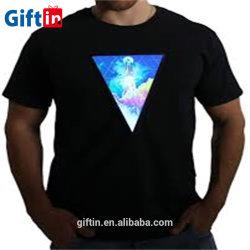 Custom-Made viejo cráneo China llevó Lana Merino iluminan T-Shirt Camiseta tshirt
