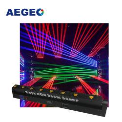 Kleur die van de Projector van de Staaf van de Straal van acht Voering RGB Multi het HoofdLicht van de Laser bewegen