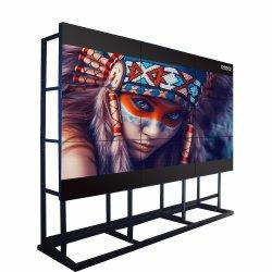 شاشة LCD ذات إطار خارجي رفيع 65 بوصة لشاشات التلفاز الإعلانية LG 3X3 4X4 Video شاشات نظام CCTV للوحة الحائط بشاشة LCD داخلية