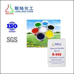 Aplicação de borracha pigmento químicos em pó branco Dixoide Titânio R998