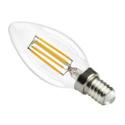 E14/E27 2W Las bombillas de filamento de LED, LED Bombilla vela tornillo en 40W, 200LM C35 Small Edison el tornillo (SES), lámparas de luz blanca cálida y suave 2700K, Non-Dimmable
