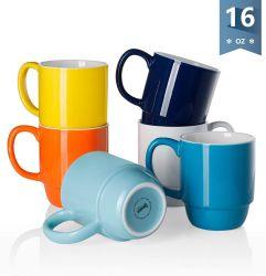 De promotie Ceramische Mok van het Porselein van de Koffie van de Sublimatie van de Douane Embleem Afgedrukte