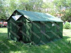 아프가니스탄/아프리카/Un/Red Cross Humanitarian Aid Frame 4mx3m 방수 캔버스/옥스포드 릴리프 텐트/난민촌 텐트 캔버스 텐트는 4-6인 가족 용도로 사용할 수 있습니다