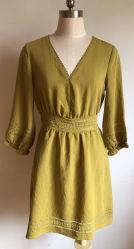 Qualität kundenspezifisches Frauen-Kleid mit 3/4 Hülsen-TagesSilk Baumwollviskose mit Bambus