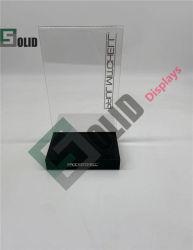 도매 전용 로고 프린트 그루브 아크릴 베이스 자석 사인 홀더 선명한 A4 크기의 아크릴 T자형 팝업 디스플레이