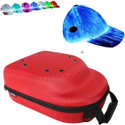 カスタム赤い防水携帯用保護記憶のギフトのホーム旅行の6つの帽子の帽子袋のためのキャンプの野球帽の箱の帽子のキャリアの箱のホールダー