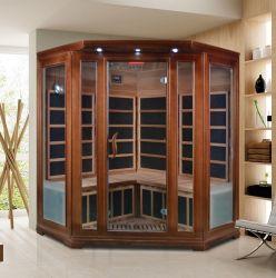 나무로 되는 구매 먼 적외선 Sauna 목욕탕 구석 증기 Sauna 룸에 의하여 결합되는 건습 Sauna